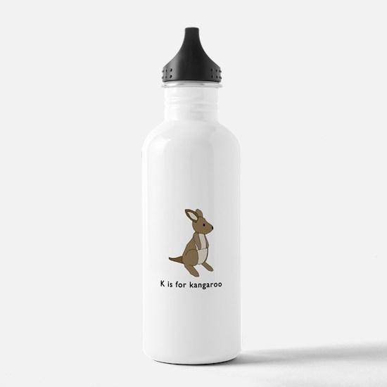k is for kangaroo Water Bottle