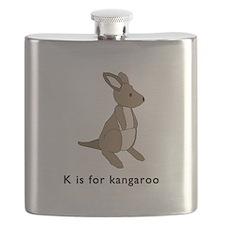 k is for kangaroo Flask