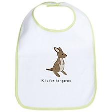 k is for kangaroo Bib