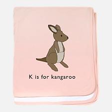 k is for kangaroo baby blanket