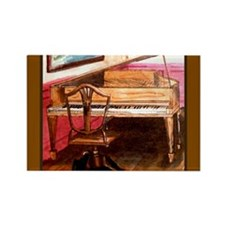 Federal Style Piano and chair Rectangle Magnet