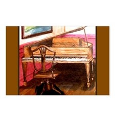 Federal Style Piano and chair Postcards (Package o