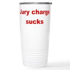 Jury charge sucks red.png Travel Mug