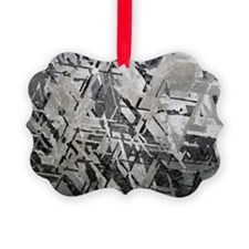Crystal structures in meteorite - Ornament