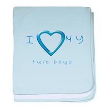 I love my twin boys baby blanket