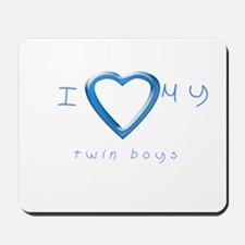 I love my twin boys Mousepad