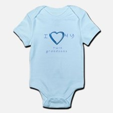 I love my twin grandsons Infant Bodysuit