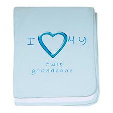 I love my twin grandsons baby blanket