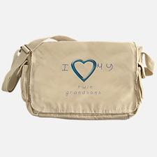 I love my twin grandsons Messenger Bag