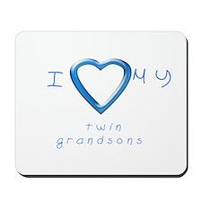 I love my twin grandsons Mousepad