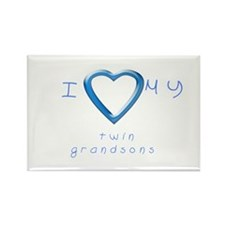 I love my twin grandsons Rectangle Magnet