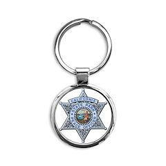 California Park Ranger Round Keychain