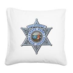 California Park Ranger Square Canvas Pillow