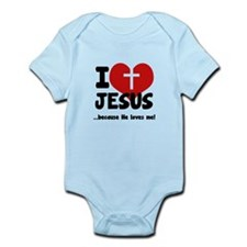I Love Heart Jesus Onesie