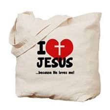 I Love Heart Jesus Tote Bag