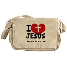 I Love Heart Jesus Messenger Bag