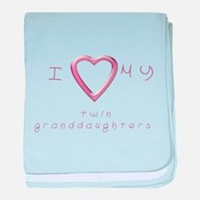 I love my twin granddaughters baby blanket