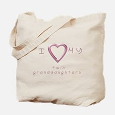 I love my twin granddaughters Tote Bag