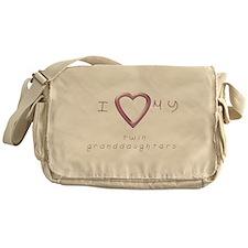 I love my twin granddaughters Messenger Bag