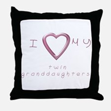 I love my twin granddaughters Throw Pillow