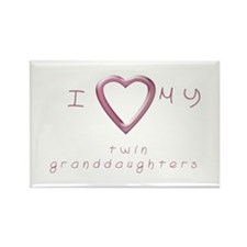 I love my twin granddaughters Rectangle Magnet