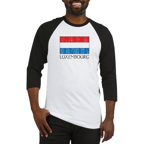 Luxembourg Flag Baseball Jersey
