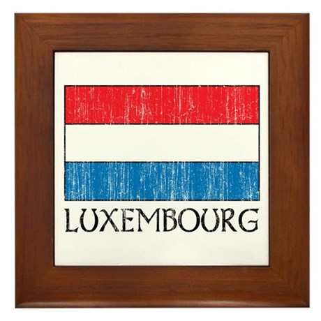 Luxembourg Flag Framed Tile