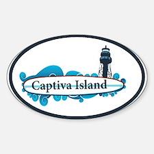 Captiva Island - Surf Design. Decal