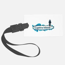Captiva Island - Surf Design. Luggage Tag