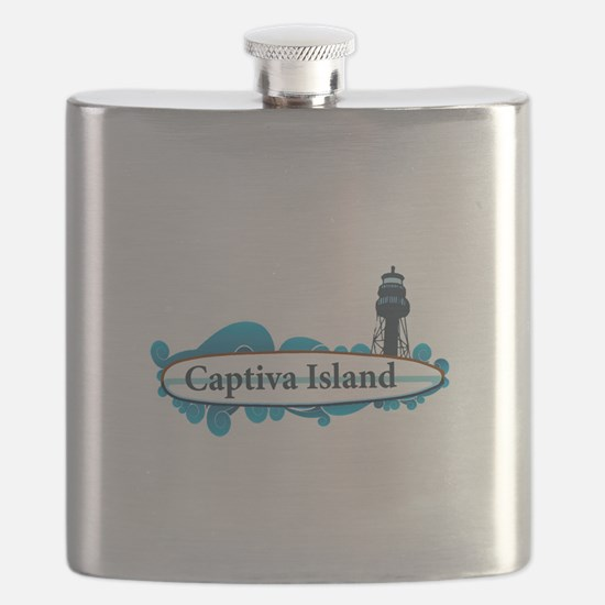 Captiva Island - Surf Design. Flask