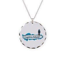 Captiva Island - Surf Design. Necklace Circle Char