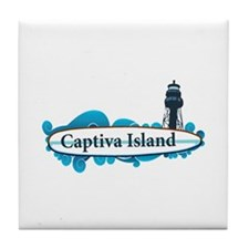 Captiva Island - Surf Design. Tile Coaster