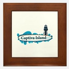 Captiva Island - Surf Design. Framed Tile