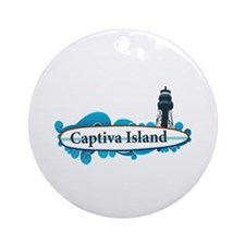 Captiva Island - Surf Design. Ornament (Round)