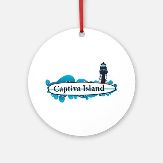 Captiva Island - Surf Design. Ornament (Round)