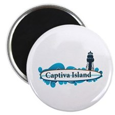 Captiva Island - Surf Design. Magnet