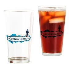 Captiva Island - Surf Design. Drinking Glass