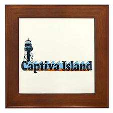 Captiva Island - Lighthouse Design. Framed Tile