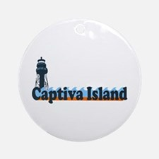 Captiva Island - Lighthouse Design. Ornament (Roun