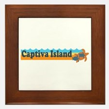 Captiva Island - Beach Design. Framed Tile