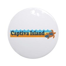 Captiva Island - Beach Design. Ornament (Round)