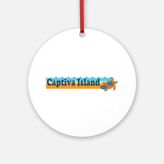 Captiva Island - Beach Design. Ornament (Round)