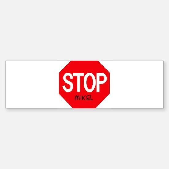 Stop Mikel Bumper Car Car Sticker