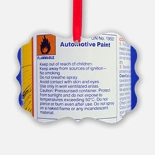 Warning on aerosol can - Ornament