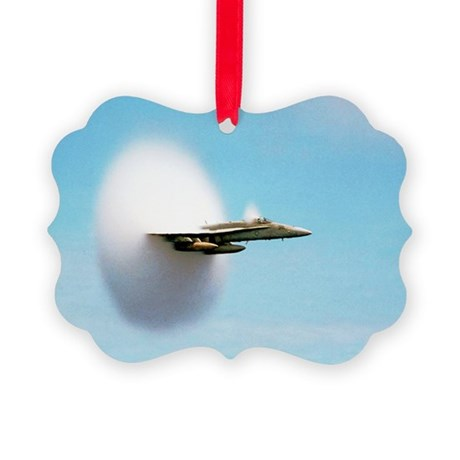 Aircraft sonic boom cloud - Picture Ornament
