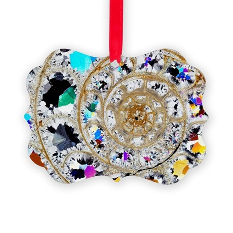 Ammonite fossil, thin section - Picture Ornament