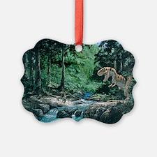 Artwork of a Tyrannosaurus rex dinosaur - Ornament