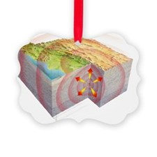 Earthquake waves, artwork - Ornament