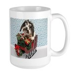 Dudley in Winter Sleigh Large Mug