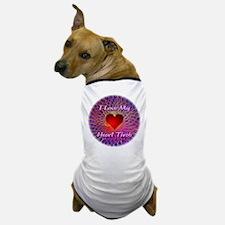 I Love My Heart Throb Dog T-Shirt